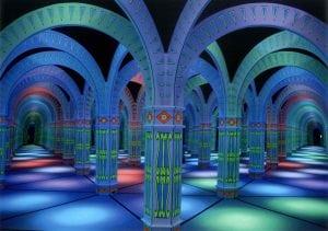 blue mirror maze shot